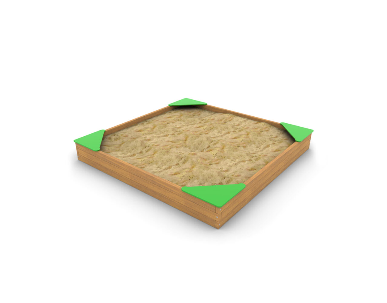 Piaskownica kwadratowa drewniana na plac zabaw z atestem i certyfikatem, certyfikowana piaskownica