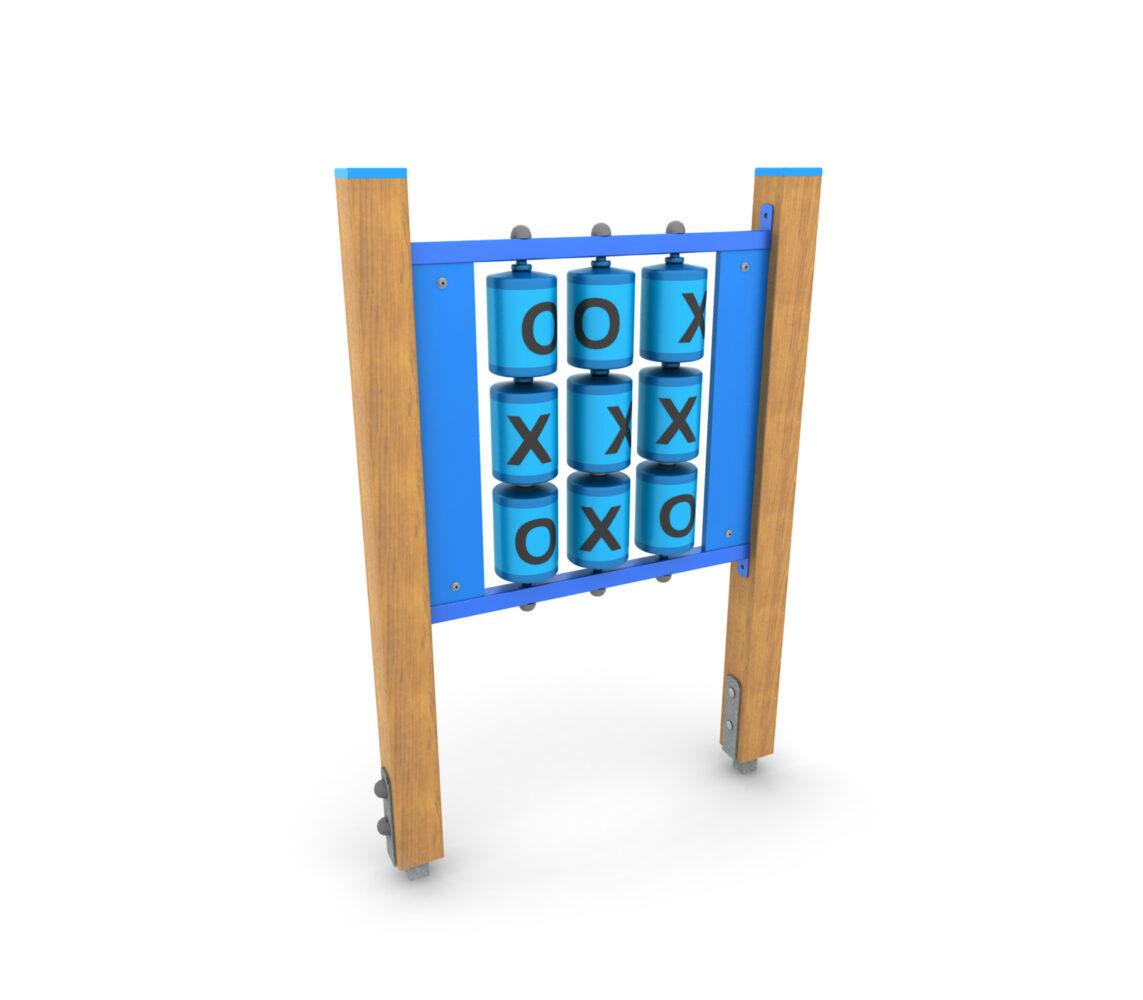 Panel zabawowy edukacyjny na plac zabaw panel sensoryczny gra w kółko i krzyżyk