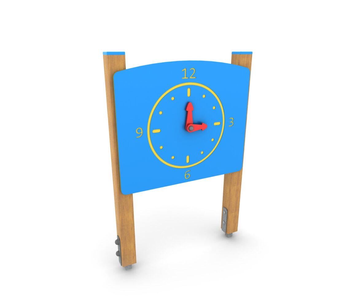 Panel zabawowy edukacyjny na plac zabaw panel sensoryczny zegar nauka czasu dla dzieci