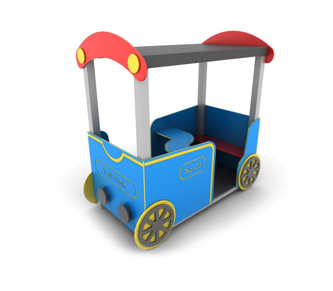 Wagon z dachem wagonik na plac zabaw dla dzieci do przedszkola i żłobka