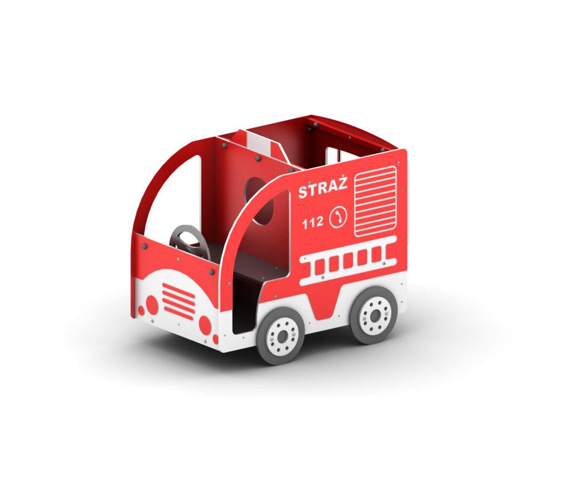 Straż pożarna wóz strażacki na plac zabaw