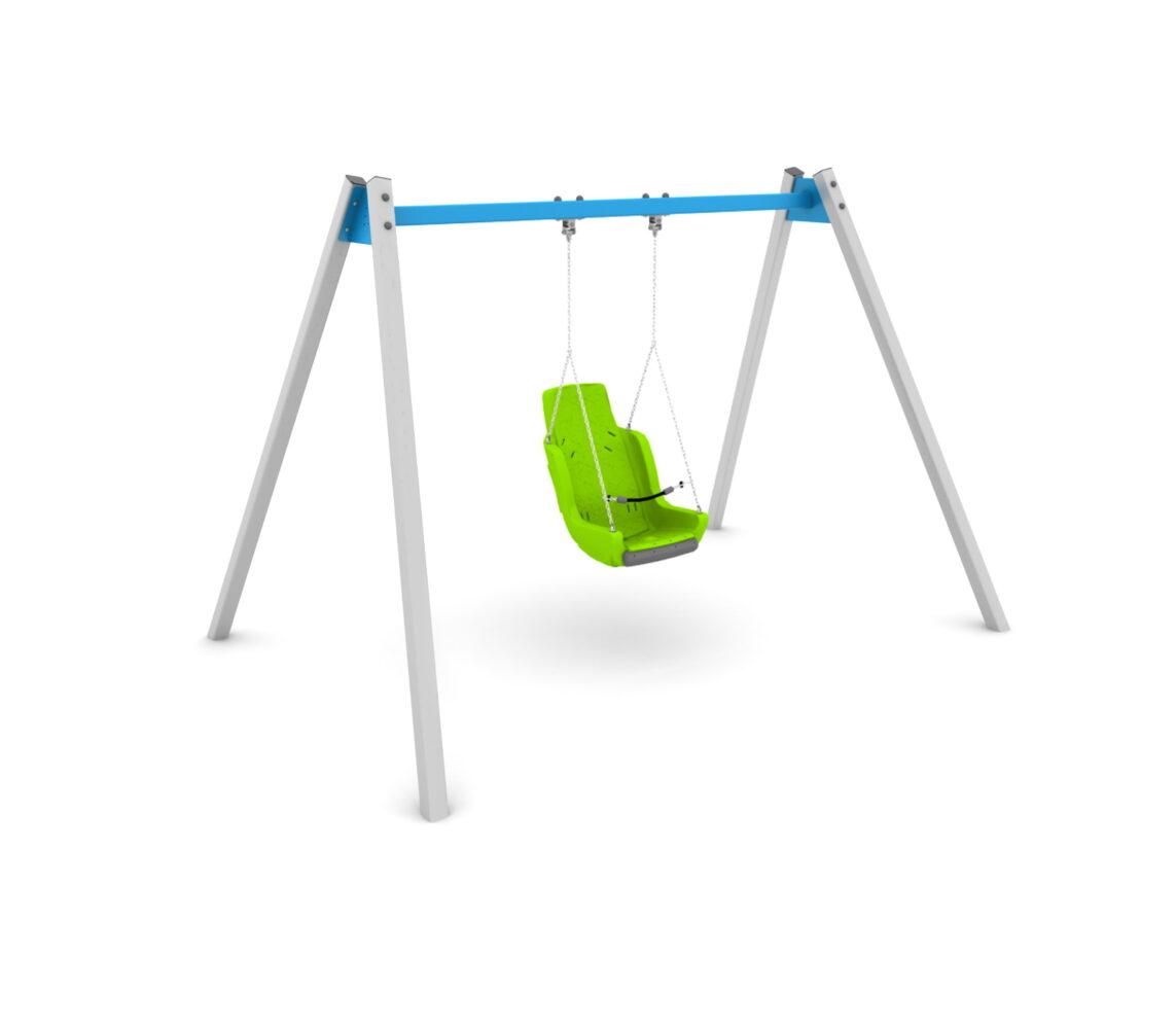 Huśtawka integracyjna z siedziskiem dla dzieci niepełnosprawnych Special need seat swing TediPlay huśtawka specjalnych potrzeb