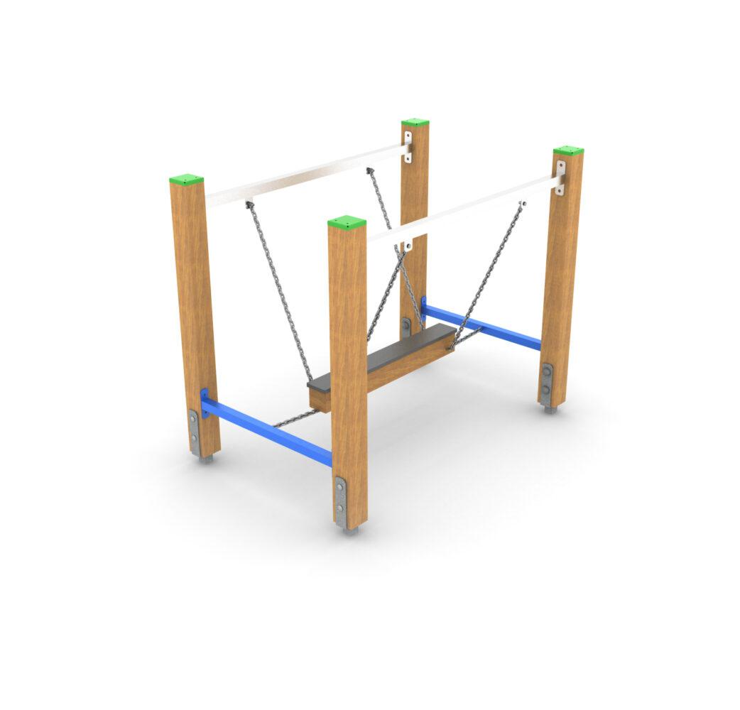 Równoważnia łańcuchowa na plac zabaw sportowy. Producent sportowych placów zabaw z atestami Ścieżka zdrowia dla dzieci