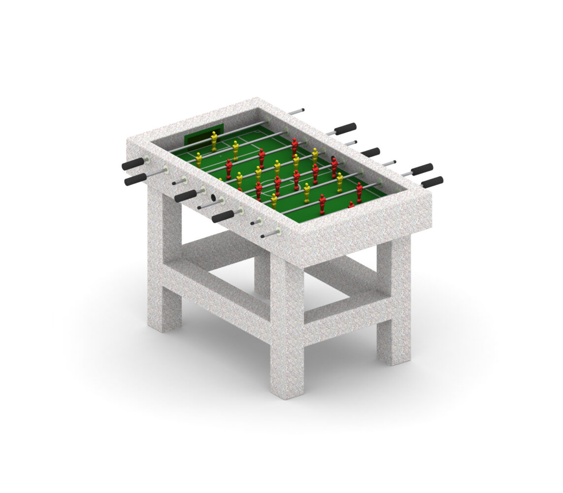 Betonowy stół do gry w piłkarzyki