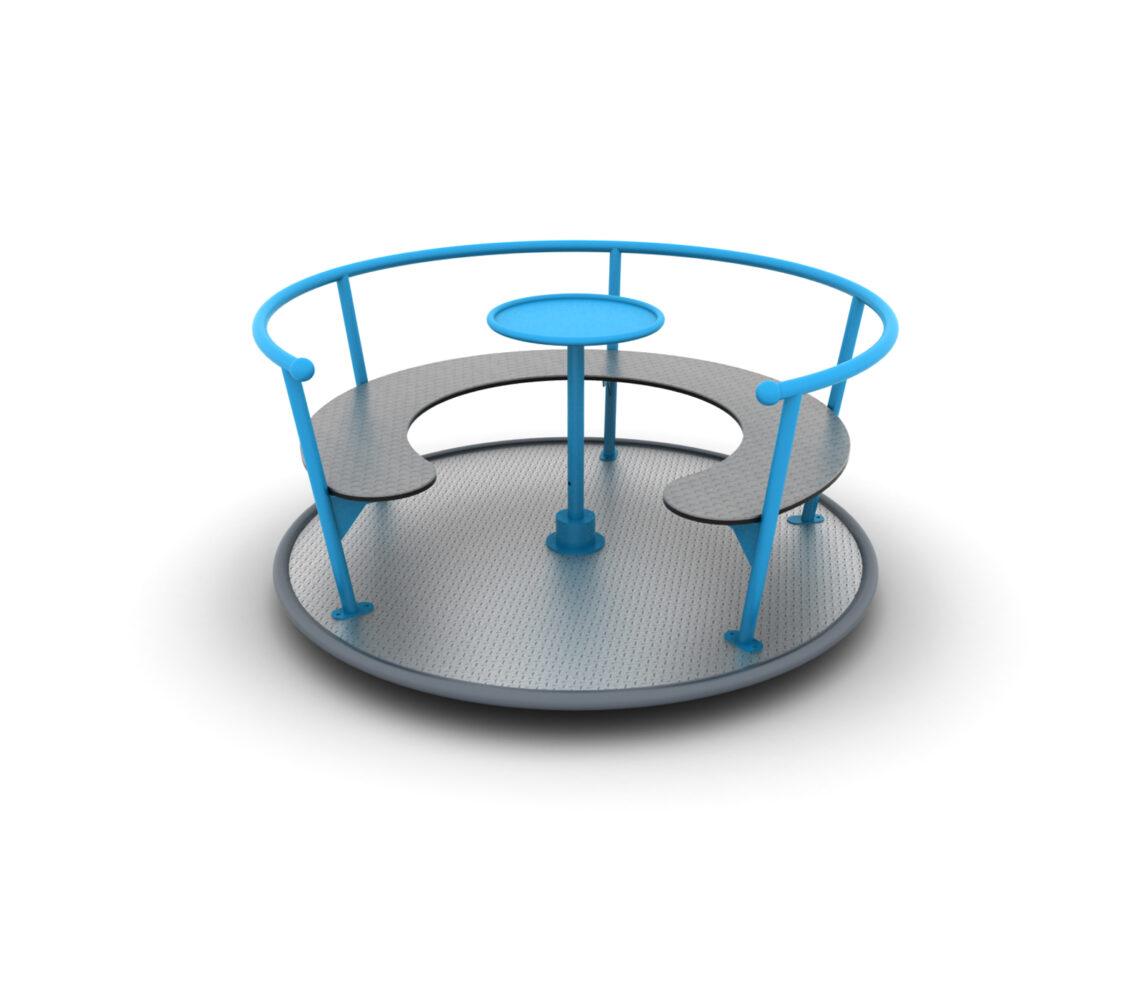 Karuzela na plac zabaw z certyfikatem tarczowa z siedziskiem