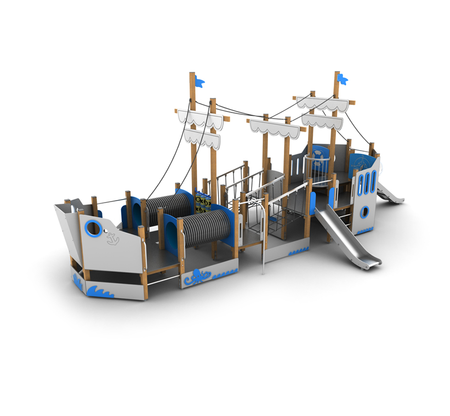 Galeon Trawler statek na plac zabaw z atestem