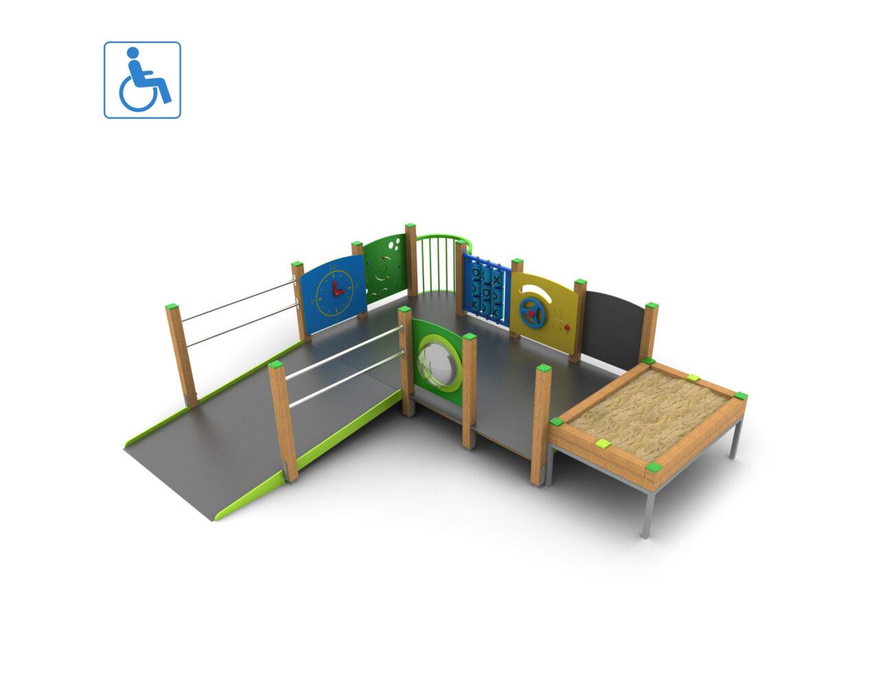Integracyjne place zabaw dla niepełnosprawnych producent
