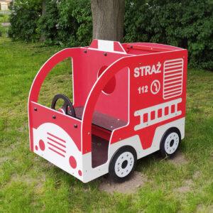 Straż pożarna na plac zabaw, wóz strażacki z atestem