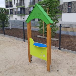 Panele edukacyjne zabawowe na plac zabaw