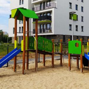 Drewniany plac zabaw PZD-17 TediPlay bezpieczne place zabaw