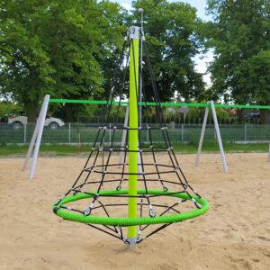 Piramida linowa stożek siatka linowa plac zabaw