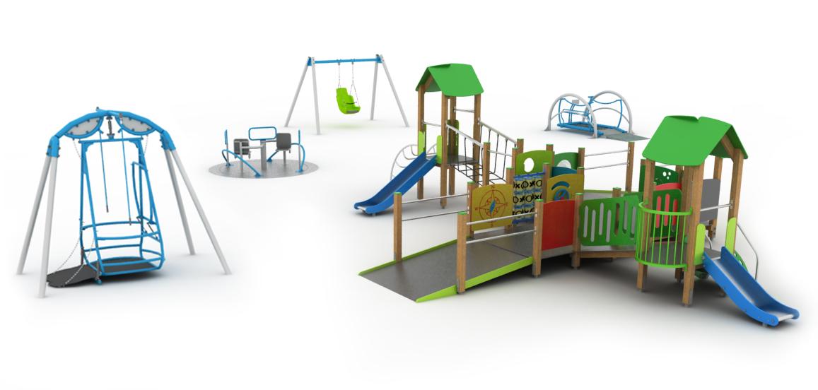 Integracyjne place zabaw produkcja i projektowanie