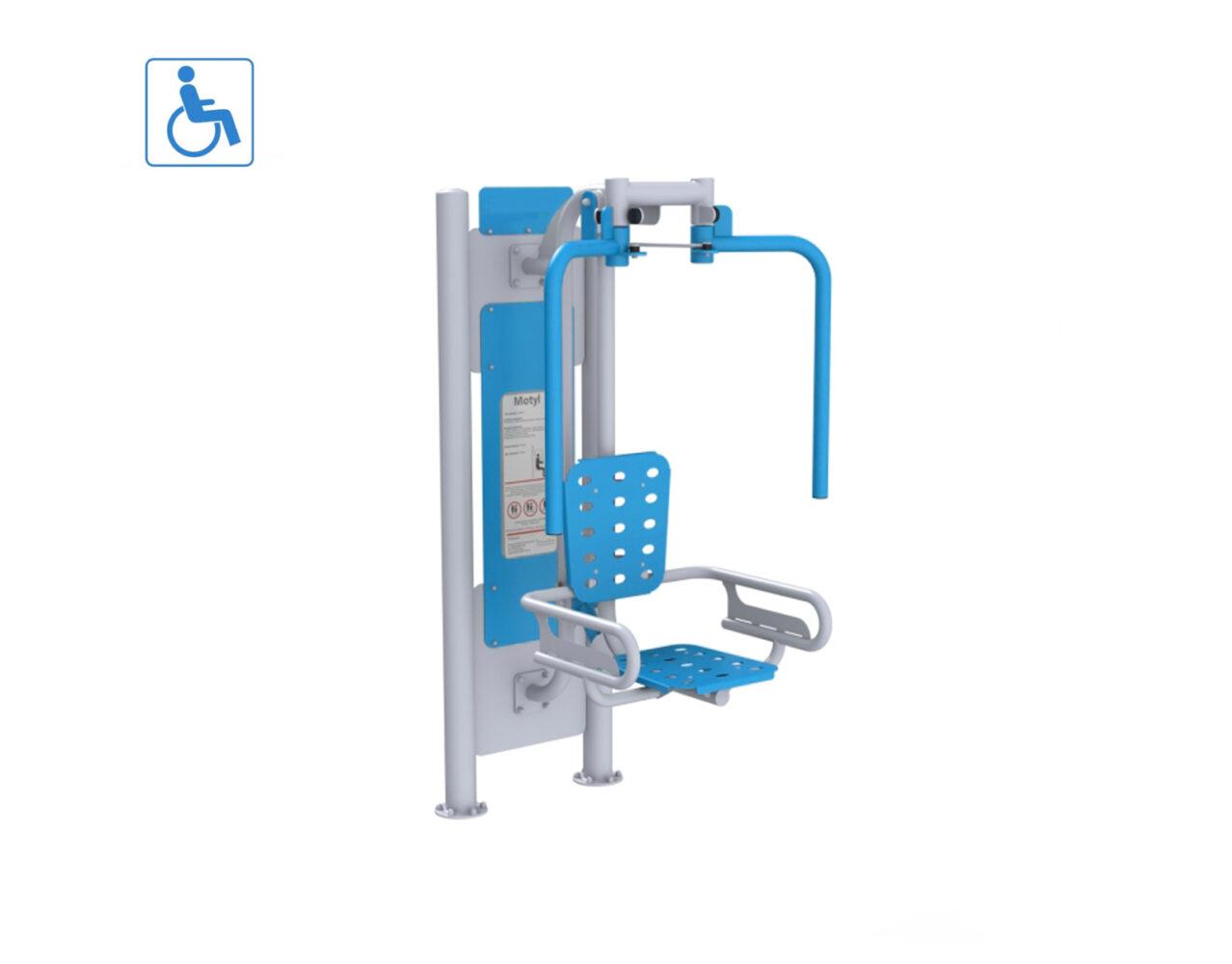 Motyl siłownie zewnętrzne integracyjne dla niepełnosprawnych siłownie parkowe siłownie dla niepełnosprawnych